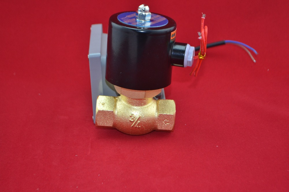 G3/4'' 2L(US) series solenoid valve (steam type) two position two way 2L170-20 high quality high temperature steam solenoid valve dc24v two position two way us 15