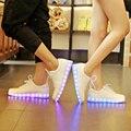 Cesta usb levou chinelos crianças shoes meninos meninas com light up sneakers tenis formadores crianças infantil simulação led luminoso