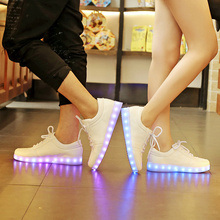Usb Basket Led Slippers children shoes girls boys with Light Up trainers Kids infant Tenis Led Simulation Luminous Sneakers