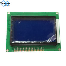 Free shipping 1pcs 12864 lcd display module STN blue screen white backlight 5v standard graphic KS0108 WH12864A size 93*70mm(China)