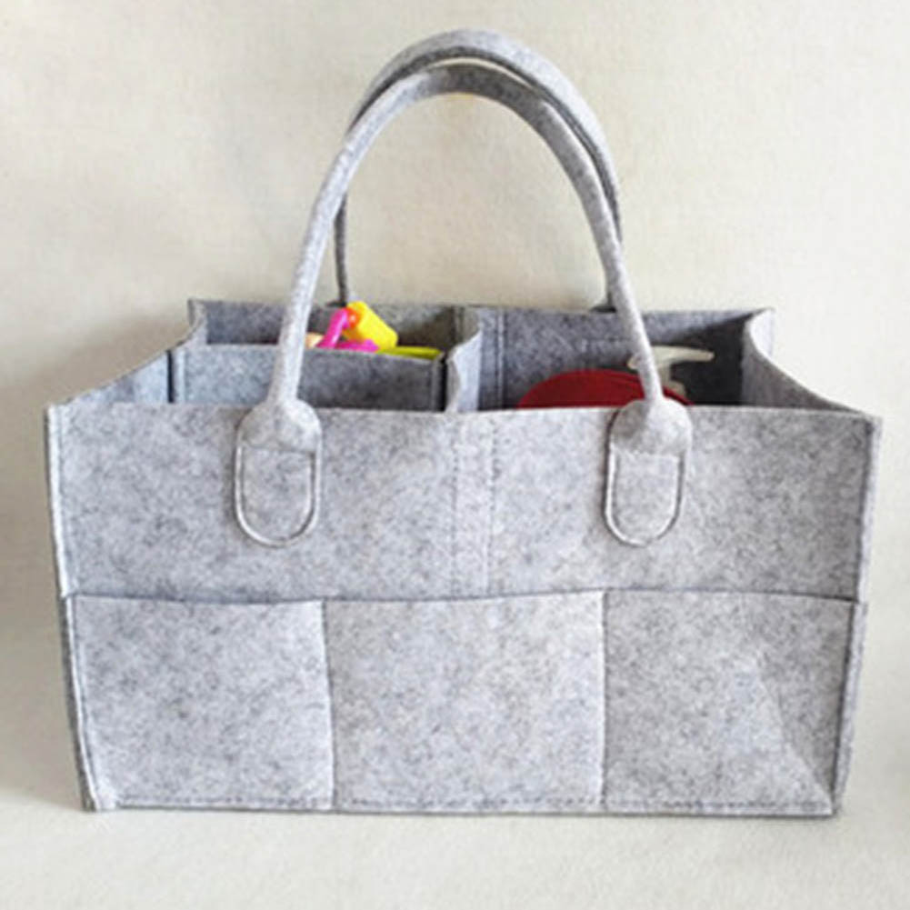 Non-Woven Shopping Tote Family Women Handbag Under Closet Hand Box Clothes Divider Organiser Quilt Bag