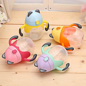 Cup Bottle Feeding-Cup Water-Handle Toddler Baby Kids Children Silica-Gel Learn Cute