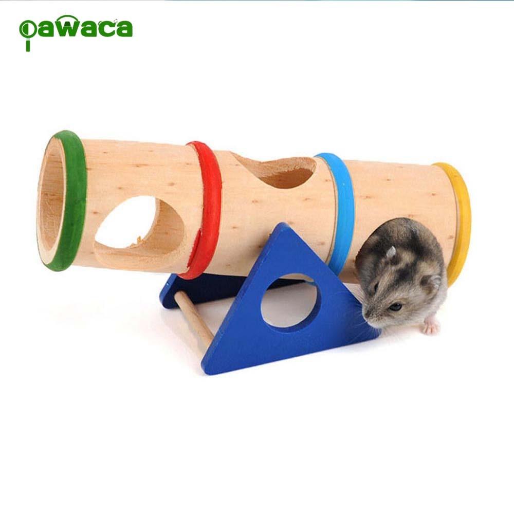 font b Pet b font Accessories Hamster Product Rainbow Upturned barrel Hamster Toy font b