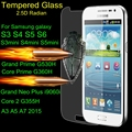 9H Tempered Screen Glass For Samsung Galaxy S3 S4 S5 mini S6 Neo J1 J3 J320F J5 J7 A3 A5 A7 2015 2016 Core Grand Prime Film Case