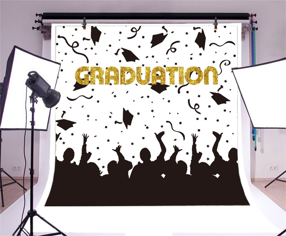 Laeacco Students Graduation Party Poster Fundaluri fotografice - Camera și fotografia - Fotografie 3