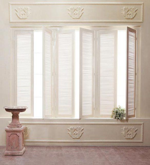 8X12Ft Sonnenlicht Shutter Fenster Zimmer Beige Fotografie
