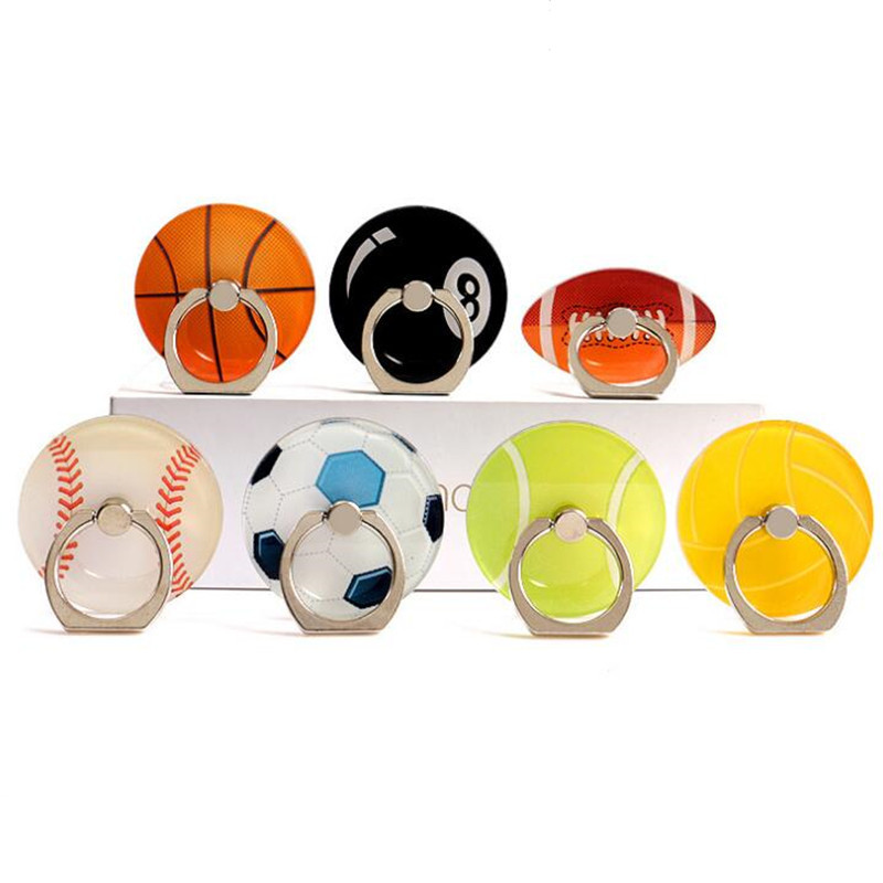 UVR Football Basketball Tennis Finger Ring Smartphone Stand Holder Phone Holder Stand For IPhone Xiaomi Acrylic All SmartPhone