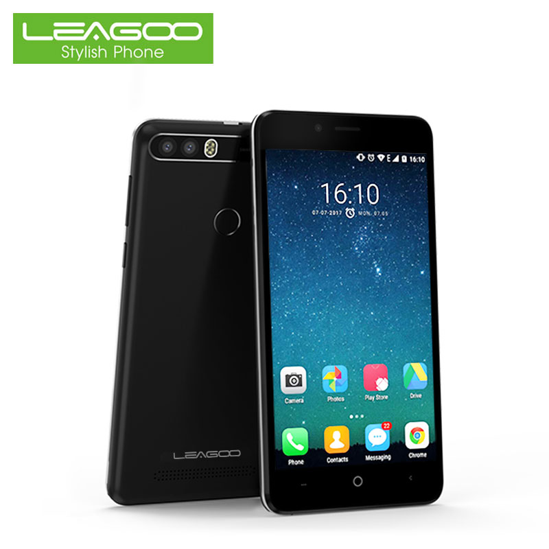 In Stock Leagoo Kiicaa Power Unlock 3G Dual Sim Card Mobile Phone MT6580 Quad Core 2G+16G Smartphone 5.0 Inch Android 7.0 Nougat