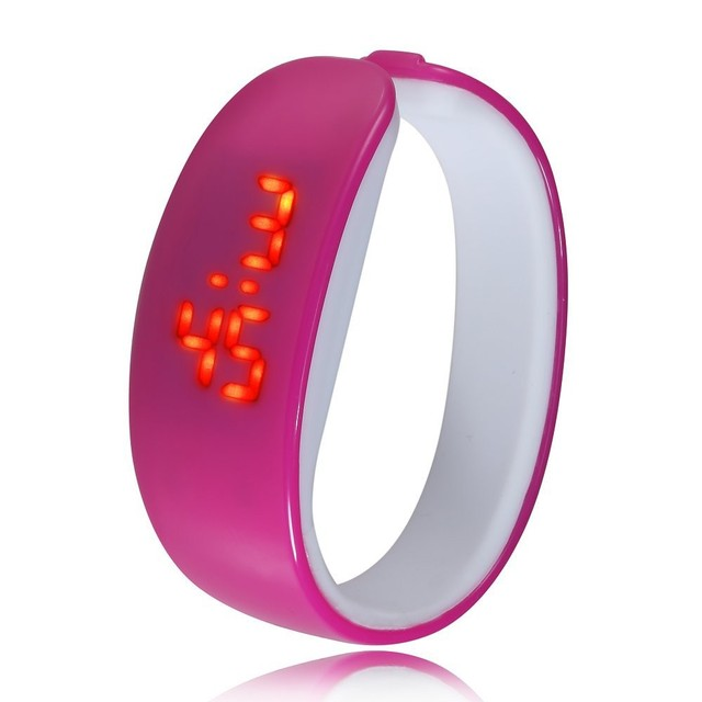 Fashion 2017 lady gift LED Watch , Oval red light display women wristwatch , creative pretty fashion digital Bracelet watches