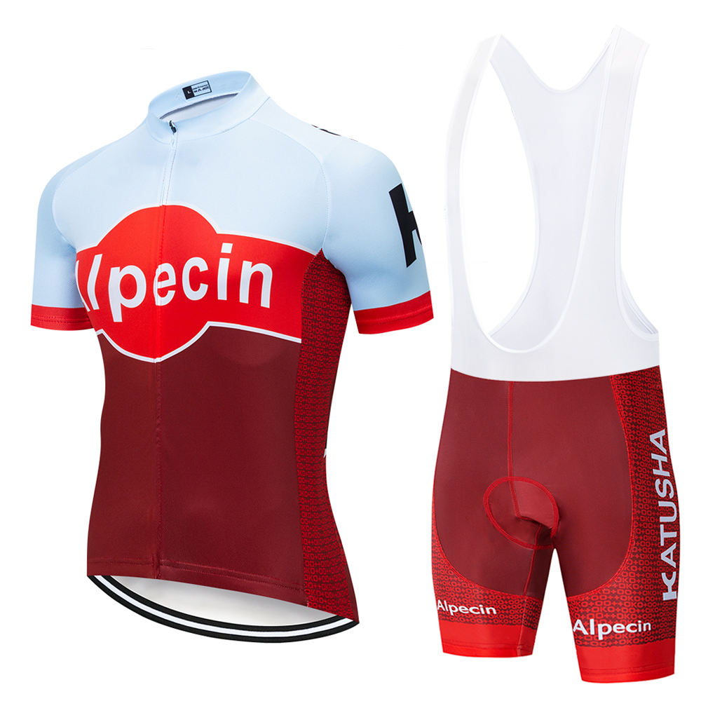 2019 TEAM KATUSHA PRO cycling jersey 9D gel bike shorts suit MTB Ropa Ciclismo mens summer bicycling Maillot culotte clothing