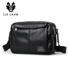 LIELANG 100%Genuine Leather Shoulder Bags for Men Satchel Ba