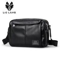 LIELANG Genuine Leather Shoulder Bags For Men Satchel Bag Men Black Messenger Bags Travel IPad Portfolio
