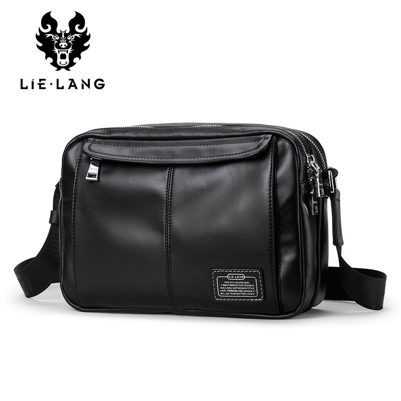LIELANG Genuine Leather Shoulder Bags for Men Satchel Bag Men Black Messenger Bags Travel iPad Portfolio Male Crossbody Bags женские часы 33 element 331819