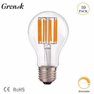 Grensk 8W 10W Edison A19 Globe