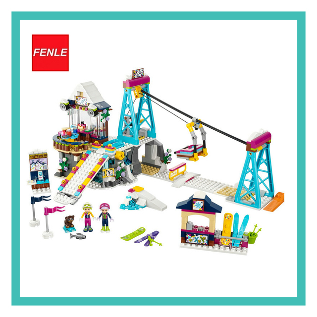 10732 Girls bale Friends bricks 519PCS compatible Snow Resort Ski Lift 41324 Enlighten Building Blocks Bricks Toys