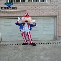 Маскоты Дядя Сэм Маскоты костюм Лидер продаж Герой мультфильма маскарадный костюм карнавальный костюм наряд костюм