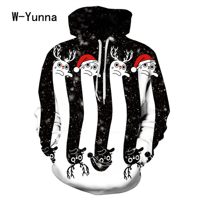 2017 Newest 3D Print Christmas Halloween Skull Theme Pullover Hoodies for Women/men Causal Loose Plus Size Sweatshirts Femme 1