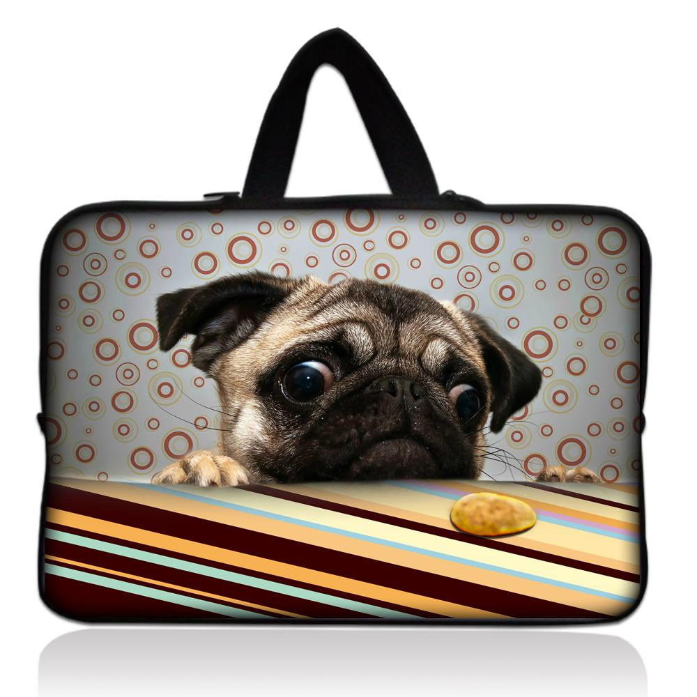 15.4 Cute Pug Neoprene Laptop Bag 15 15.6 Notebook Netbook Sleeve Cases Tablet Pouch For Dell Hp Acer Asus For macbook Pro