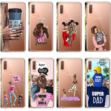 Fashion Black Brown Hair Baby Mom Girl Queen 01 Woman Phone Cases For Samsung S8 S9 Plus A6 A6Plus A8 A8Plus 2018 A7 2018 A750(China)