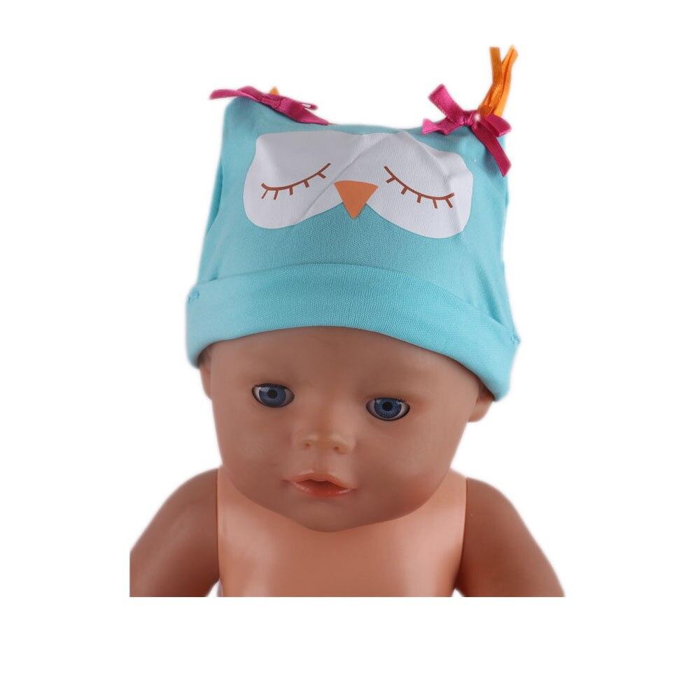 New Fashion Blue Owl Hat Wear Fit 43cm  , Children Best Birthday Gift N448