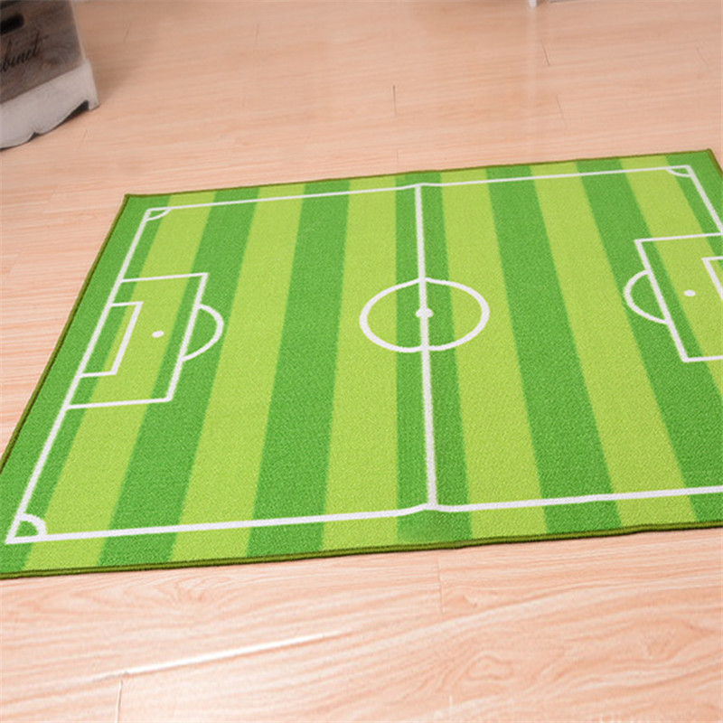 100 130cm Green Area Rug Football Carpet Jogging Training For Children Rugs Kids Bedroom Room In From Home Garden On