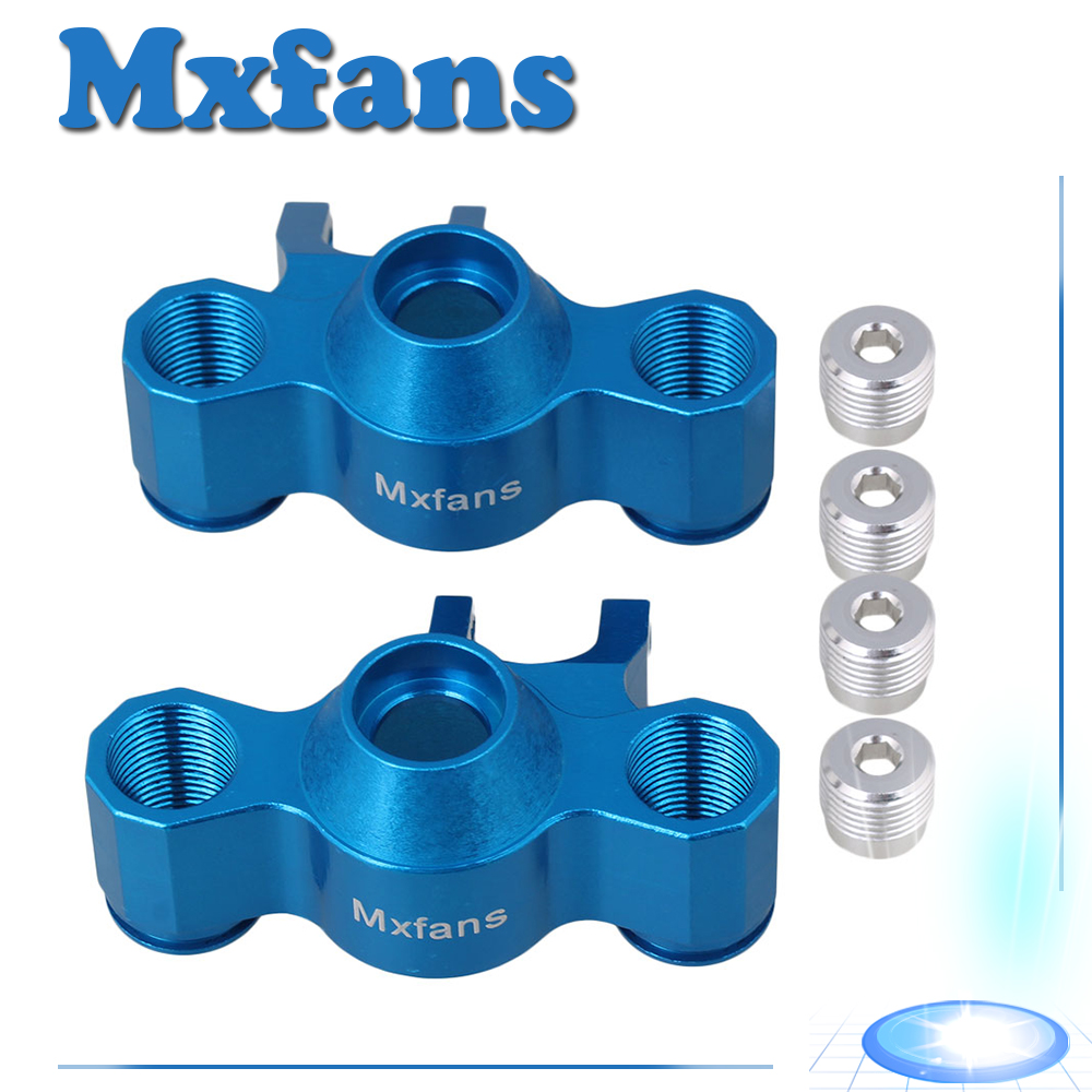 Mxfans 2x Blue Steering Hub Carrier for TRAXXAS E-REVO RC1:10 Largefoot Car стоимость
