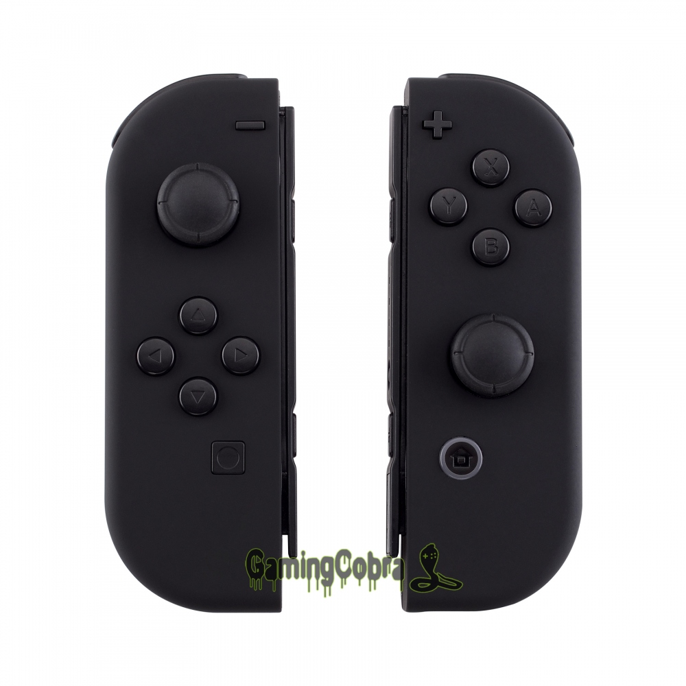 Custom Soft Touch Grip Black Controller Housing w/ Full Set Buttons DIY Replacement Shell Case for Nintendo Switch Joy Con CP310