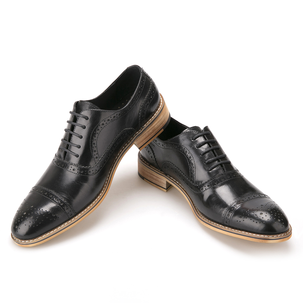 2019 Manual Fashion Mens Formal Shoe Brogue Carving Oxfords  Leather Handwork