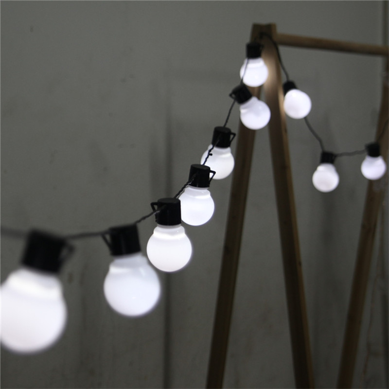 novelty outdoor lighting 5cm big size led ball string lamps black wire christmas lights fairy wedding garden pendant garland in lighting strings from lights
