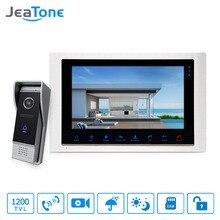 "JeaTone 10 ""verdrahtete Türsprechanlage hause Intercom Video türklingel monitor Intercom Mit 1 Kamera 1200TVL Hohe Auflösung"