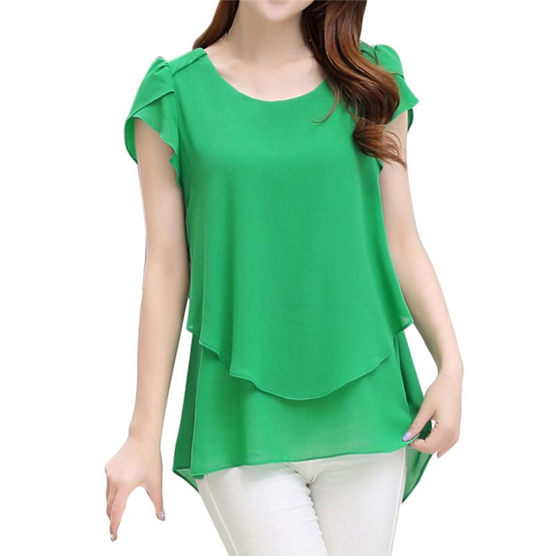 short sleeve chiffon blouse (9)