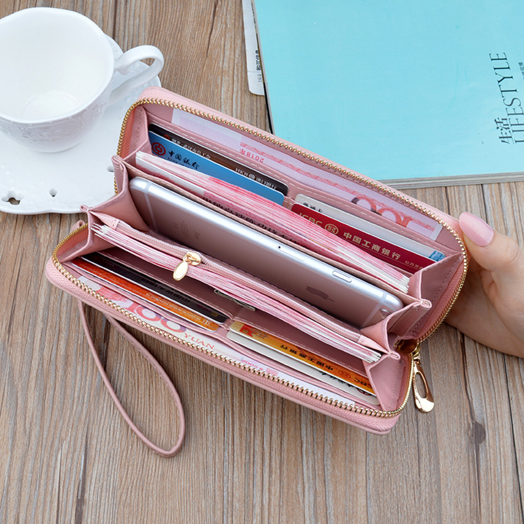 Pattern Wallet Coin-Purse Star Zipper Handheld Leather Women Long with -0.7 Antimagnetic