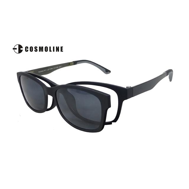 Cosmoline magnético clip sobre óculos de sol para as mulheres de alta qualidade da lente polaroid óculos ultra-leve quadro 371