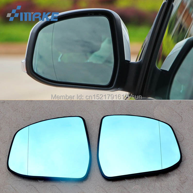 smRKE 2Pcs For Ford focus Rearview Mirror Blue Glasses Wide Angle Led Turn Signals light Power Heating