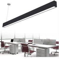 Z современный Алюминий светодиодный чип подвесной светильник Engineering висит Провода полосы света, приспособление для офиса Конференц зал исс