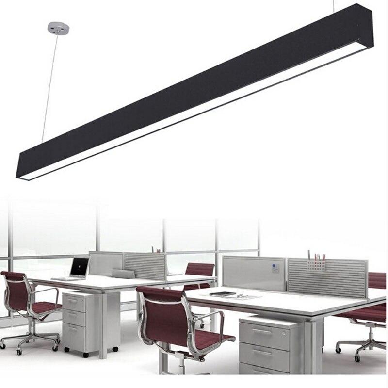 Z moderne en aluminium puce LED suspension lampe ingénierie suspendus fil bande luminaire pour bureau conférence salle étude lampe