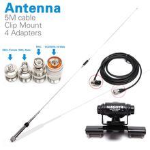 Nagoya NL 770R Walkie Talkie, antena de Radio móvil PL259 + 5M, Cable Coaxial, montaje de Clip + SMA F SMA M BNC SL16