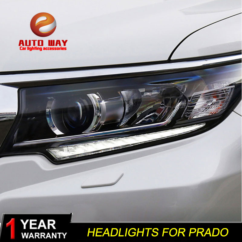 Car Styling Head Lamp Case For Toyota Prado LC200 Headlights 2018 LED Angel Eyes Headlight DRL Bi Xenon Lens HID Low Beam bi xenon headlights for mazda 6 2003 2004 hi low beam projector lens with angel eyes hid bulb