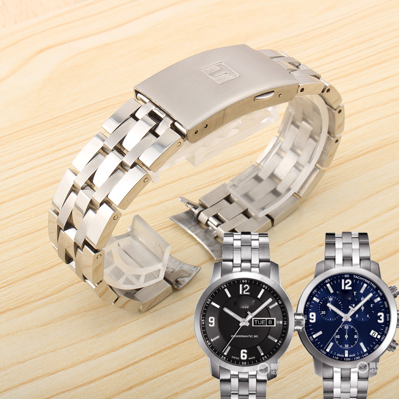 19mm 20MM Solid Stainless Steel 1853 Watch Strap For Tissote 1853 T-SPORT PRC200 T17 T461 T014430 T014410 Watchband Man