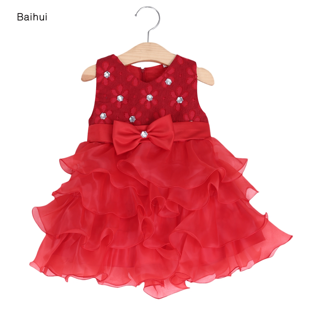 Girl summer dress formal bridesmaid kids clothing bowknot for Infant dresses for weddings