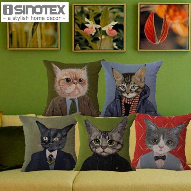 Coperture dell'ammortizzatore Mr. Cat Cotone Serie Tessuto di Lino Cat Face Stam