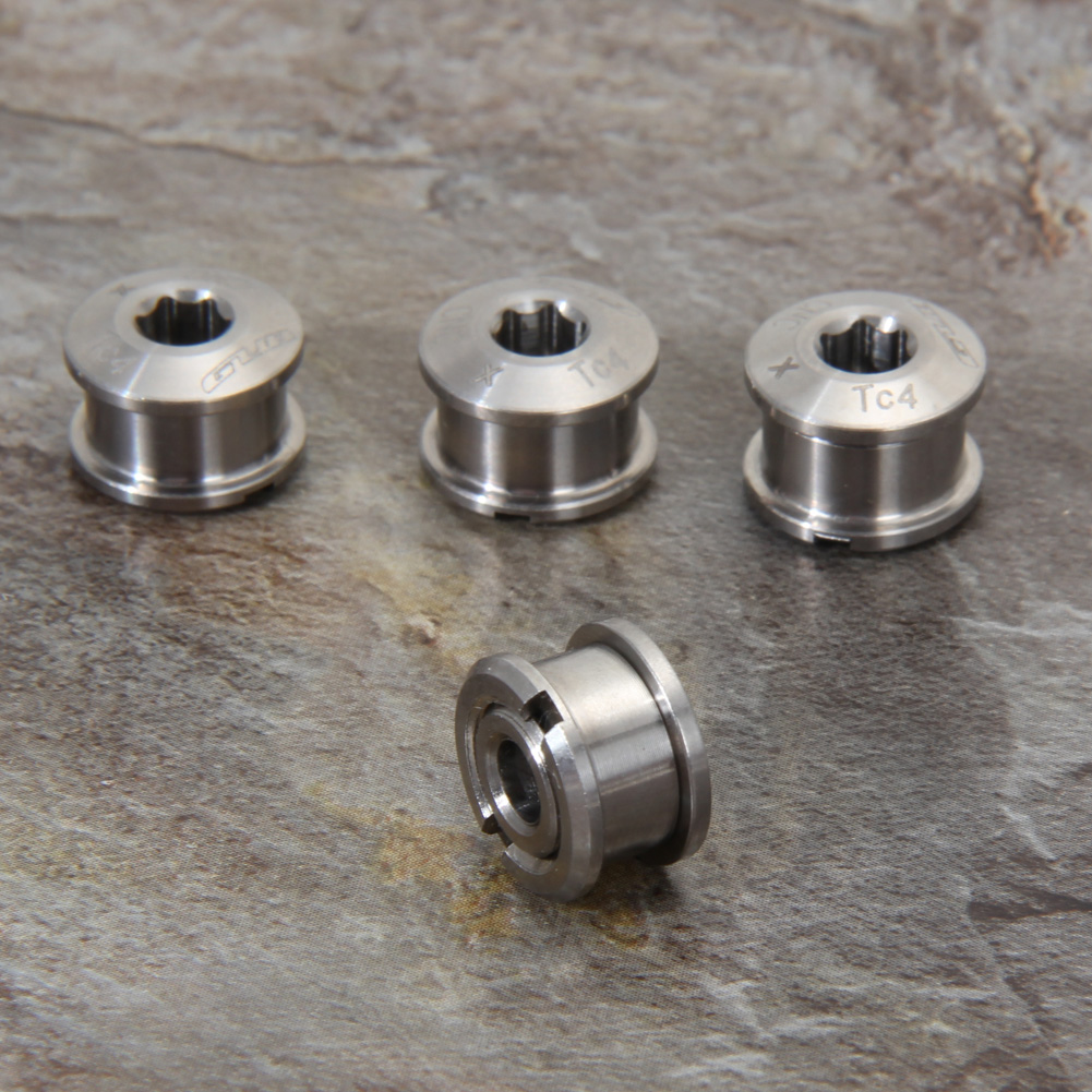 M8*6mm/4 Pair Titanium Ti Crankset crank Bolt Arm Fixing Bolt Chainring Bolts Nuts for Road Bike MTB single chainring/chainwheel