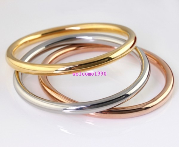 smooth solid heavy gold karma shiny and bangles bangle classic bracelet