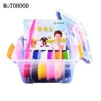 MOTOHOOD 8 12colors Snow Clay Intelligent Plasticine And Tool Kit Dynamic Sand Hand Gum Play Dough