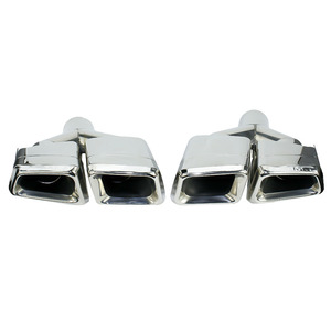 Image 1 - New For Mercedes Benz 2011 2013 ML W166 GL X166 exhaust Muffler Tip 304 Stainless Steel Pipe YC101020