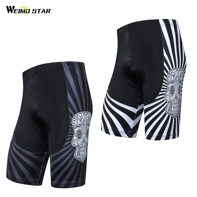 2018 New Arrival Skull Weimostar Men Cycling Shorts With Pad Bike Shorts Ciclismo Mtb Shorts Bike Shorts Quick-Dry