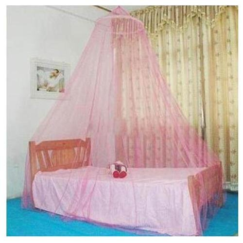PHFU New Pink Elegant Round Lace Mosquito Polyester Bed Canopies Netting