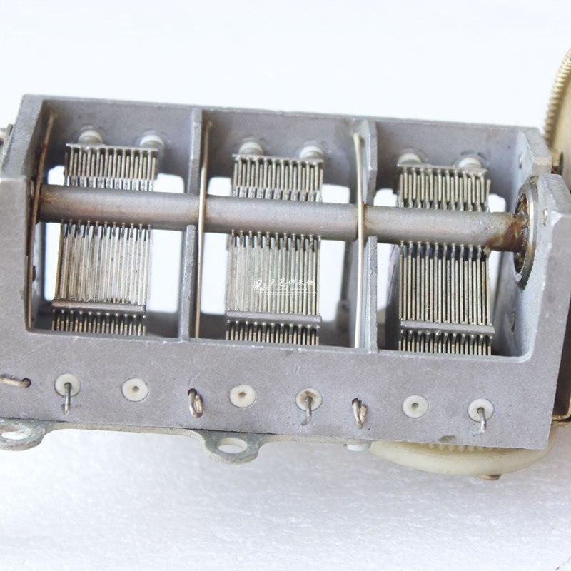engrenagem de ajuste variavel da correia do capacitor 21pf 255pf ou assim 05
