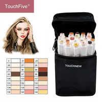 TouchFIVE 12/24 colores Sketch tonos de piel marcador lápiz artista doble cabeza Alcohol Based Manga arte rotuladores pincel