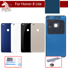 For Huawei Honor 8 Lite Battery Cover Back Housing Rear Door Case For Huawei Honor8 lite Battery Cover Panel Replacement door housing case for huawei honor 8 lite honor 8 battery cover back glass battery cover for honor8 lite rear panel replacement